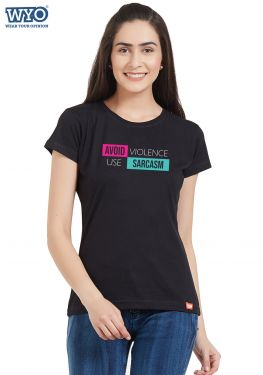 Avoid Violence Women T-Shirt