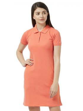 Basic PQ Polo Dress - Carrot