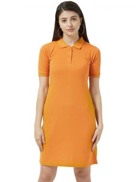 Basic PQ Polo Dress - Mustard