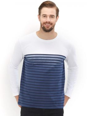 Blue Ombre Dye White Full Sleeves
