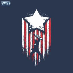 Glow Star Captain America HD T-Shirt