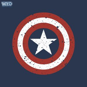 Grunge Shield Captain America T-Shirt