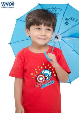 Chibi Captain America Kids T-Shirt