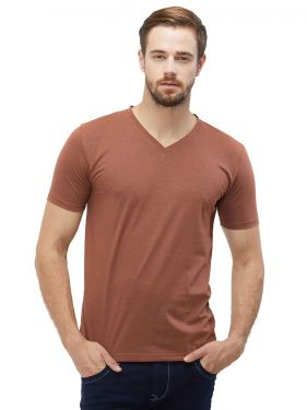 Plain Vnecks - Coffee Mel