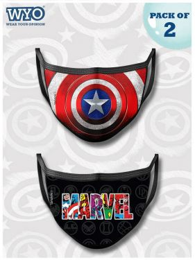 Reusable Cap America and Marvel Mask MD1