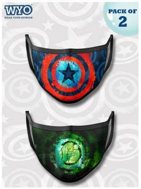 Reusable Cap America and Hulk Mask MD4