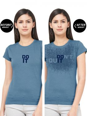 Do It - Women Sweat Activated Gym T-Shirt
