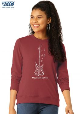 Guitar Music - Women Sweatshirt
