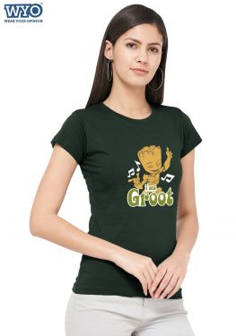Music Dancing Groot Women Tshirt