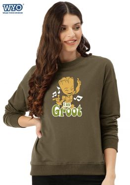 Music Dancing Groot - Women Sweatshirt
