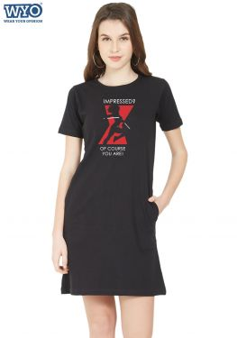 Impressed You Black Widow TShirt Dress