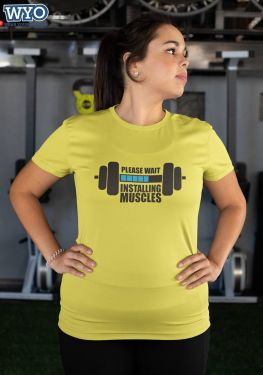 Installing Muscles Plus Size T-Shirt