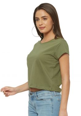 Crop Top - Khaki