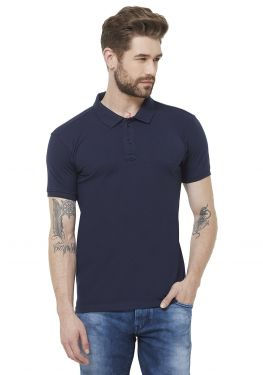 Double PQ Polo T-Shirt - Navy