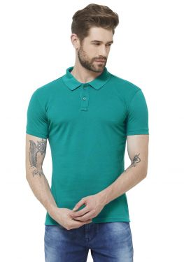 Double PQ Polo T-Shirt - Peacock Green