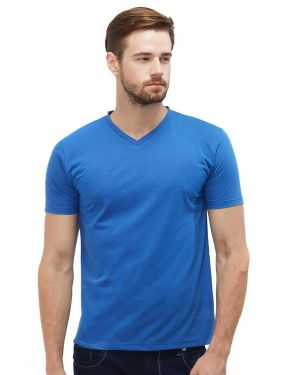 Plain Vnecks - R Blue Mel