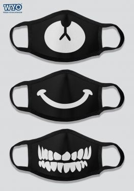 Reusable Printed Three Ply Mask Combo - B