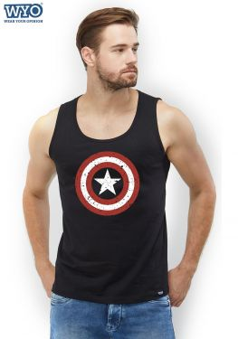 Grunge Shield Captain America Sleeveless T-Shirt