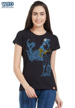 Shiva Smoke Effect Women T-Shirt