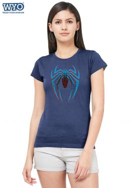 Halftone Dotted Spiderman Women T-Shirt