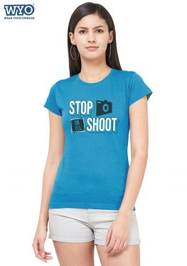 Stop Or Shoot Women Tshirt
