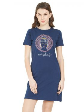 Buddha Unplug TShirt Dress