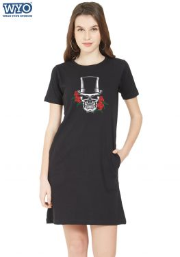 Voodoo Skull Glow TShirt Dress