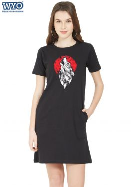 Hauling Wolf Glow TShirt Dress