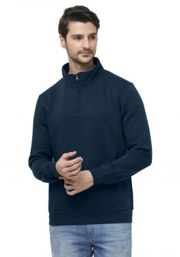 Men's T- Neck Sweatshirt - Navy