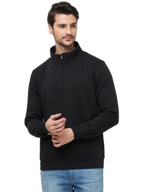 Men's T- Neck Sweatshirt - Black