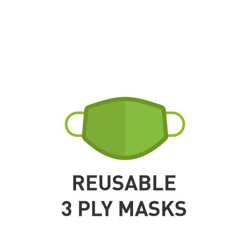 Reusable 3 Ply Masks